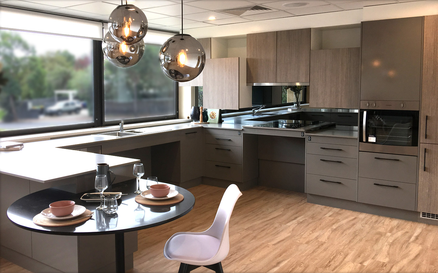 Image of an accessible kitchen design